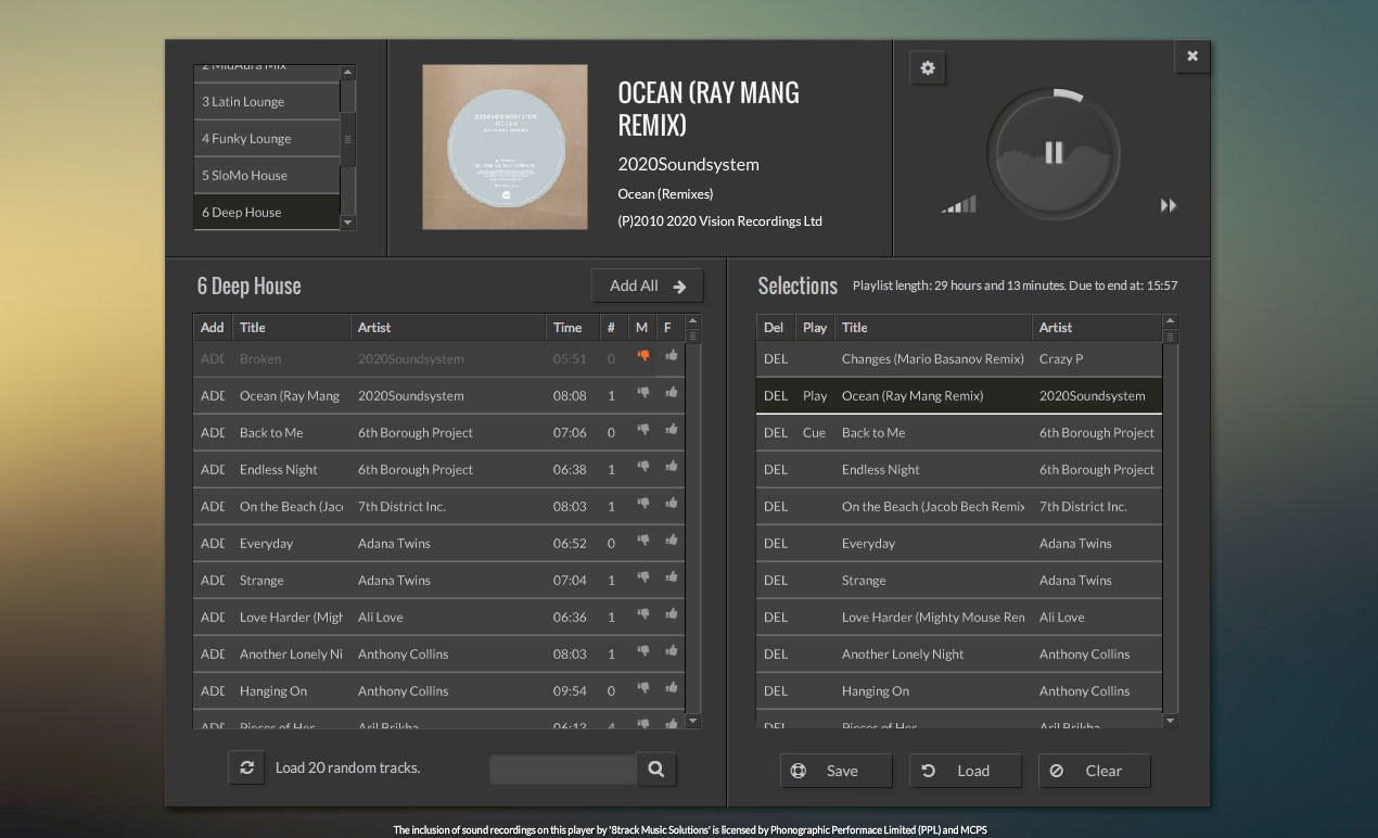 8track music DJ Mode on playback software